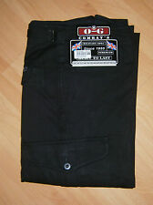 O-G MIL-COM MENS BLACK HEAVYWEIGHT COTTON COMBAT CARGO TROUSERS WORKWEAR ARMY