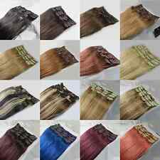 """USPS 15""""20""""22""""26""""28"""" 7PCS Clip In 100% Remy Human Hair Extensions 75g 105g 140g"""