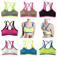 Gym Yoga Fitness Sports Bra Workout Dancing Tank Top Seamless Padded Breathable