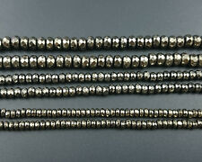 natural gold hematite beads rondelle faceted beads gemstone 2x4mm 3x4mm 4x6mm