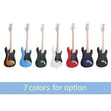 """ammoon 38"""" Electric Guitar 22 Frets Basswood Body Maple Neck with Pickguard L3B1"""