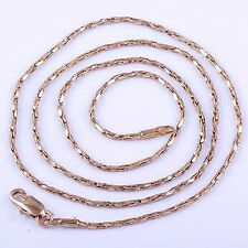 "20"" vintage necklace Womens Rose Gold Filled long Necklace chain Free Shipping"