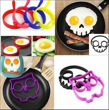 Breakfast Silicone Fried Egg Mold Pancake Egg Ring Shaper Funny Cooking Tools ~#