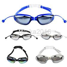 Unisex Soft Silicone Waterproof Anti-fog Ski Swimming Glasses Goggles
