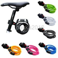 Durable Bicycle Coiled Steel Cable 5-Digit Combination Lock Bike Safety Lock