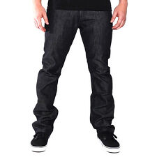 Good Denim Co Straight Fit Slim Denim Jeans (Raw Black) Men's 5 Pocket Pants