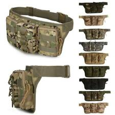 Waterproof Nylon Tactical Molle Fanny Pack Waist Belt Bag Outdoor Hiking Cycling