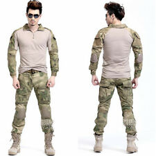 Camouflage Frog Tactical Suits Military Combat Uniform with Knee Pads Elbow Pads