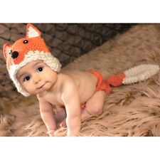 Toddler Infant  Girl Boy Fox Crochet Knit Costume Photo Photography Prop Crochet
