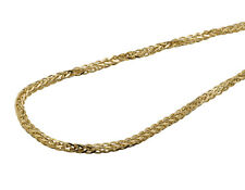 Men's Real 10K Yellow Gold Palm Wheat Chain Necklace 3MM 24-36 Inches