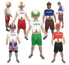 Adult Men's Funny Euro Droopers Costume Football Hooters Boobs Stag Fancy Dress