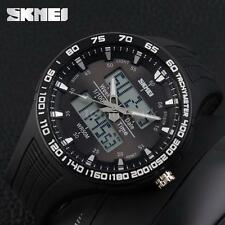 Skmei 1066 Dual Movt Waterproof Military Army LED Date Alarm Sport Watch L5D5