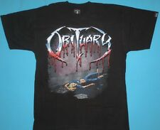 Obituary - Slowly We Rot  T-shirt New