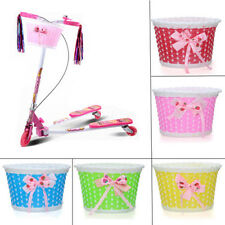 Bike Flowery Front Basket Bicycle Cycle Shopping Stabilizers Children Kid Girl D
