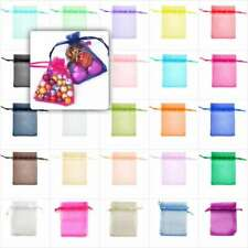20/40/60/100pcs 7x9cm Organza Gift Bags Jewellery Pouches Wedding Favor BB0001