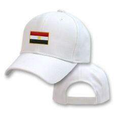 EGYPT EGYPTIAN WHITE FLAG COUNTRY EMBROIDERY EMBROIDED CAP HAT