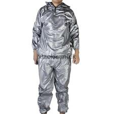 Heavy Duty Sweat Suit Sauna Exercise Gym Suit Fitness Weight Loss Anti-Rip M-XL