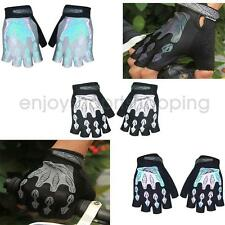 Outdoor Sports Bike Bicycle Riding Cycling Gel Pad Reflective Half Finger Gloves