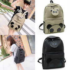 New Girl Womens Bear Canvas Shoulder School Bag Bookbag Backpack Travel Rucksack