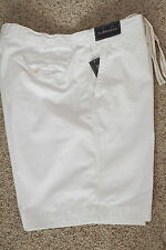 Polo Ralph Lauren Rugged Twill Bleeker Shorts White New NWT