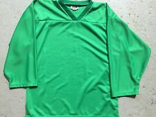 KELLY GREEN Authentic / Midweight BLANK Mens Boys League Hockey Practice Jersey