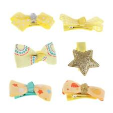 6Pcs Baby Girl Bow Flower Hair Clips Hair Accessories Princess Hairpins Headwear