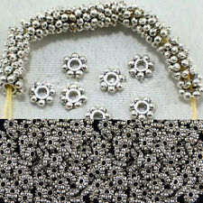 100pcs/400pcs Tibetan Silver Daisy Pop Spacer Beads Findings Jewelry 4mm/6mm