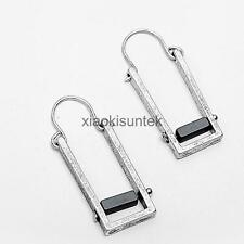 European and American New Jewelry Rectangular Alloy Antique Dangle Earrings