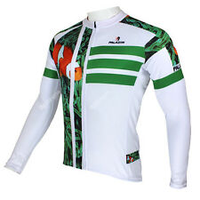 Men Fish Long Sleeve Cycling Jersey Bicycle Bike Rider Sportwear Apparel C089