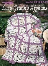 Lacy Granny Afghans ~ 6 Designs by Anne Halliday crochet patterns OOP new