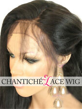 Best Human Hair Lace Front Wigs Black Women 6A Indian Remy Silky Straight Wig UK