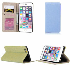 Denim Jeans Cloth Automatically Pull Card Slot Protect Case For iPhone 6 6s Plus