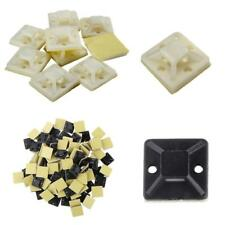 100pcs Self Adhesive Cable Wire Tie Mounting Base Clamp Clip 20mm/25mm/30mm