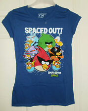 New Juniors Angry Birds Spaced Out Blue T-Shirt  Small 3-5