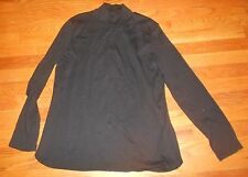 Womens Talbots Black Mock Neck Shrit Ladies Plus 0X