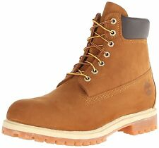 New Timberland AF 6 Inch Premium Mens Boots Leather Lace Up Rust Casual 72066