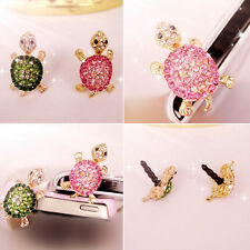 Crystal Turtle Earphone Jack Anti Dust Plug Cap Stopper for CellPhone 3.5mm 1WA