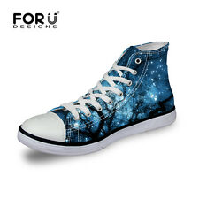 New Casual Canvas Sneakers Lace-up Athletic High Top Womens mens  Unisex School