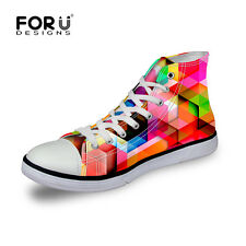Canvas Sneakers Lace-up Athletic High Top Womens mens Teenages School Travel new