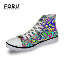 Special Canvas Sneakers Lace-up Athletic High Top for Womens girls Travel School