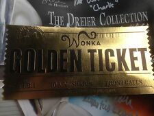 Hero Wonka Golden Ticket from Charlie and the Chocolate Factory (Film prop)