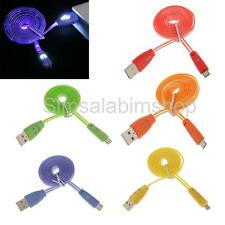 LED Lights Up Micro USB Charger Cord Sync Charging Cable for Home Car Cell Phone