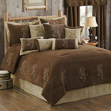 Browning Suede Buckmark Comforter Set or Bed n Bag w/Sheets~Full Queen King