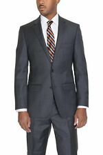 Zanetti Classic Fit Solid Charcoal Gray Two Button Super 110's Wool Suit