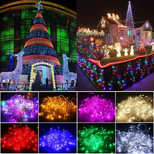 10/20M 100/200LED Flash Steady On Christmas Room Garden String Fairy Lights Lamp