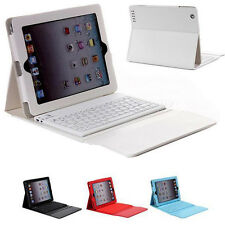 New PU Leather Case Cover with Bluetooth Wireless Keyboard Stand for iPad 2/3/4