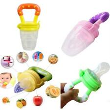 New Kids Baby Fresh Food Feeder Nipple Pacifier Nibbler Safe Feeding Tool S/M/L