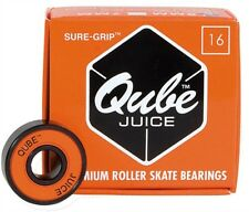Sure Grip QUBE Juice Bearings (16 pack) for Roller Skates