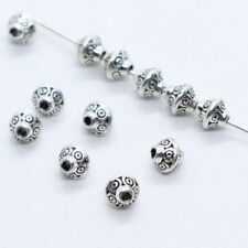 30/90pcs Tibetan Silver Double Cone Charm Spacer Beads 6.5x7mm Jewelry Findings