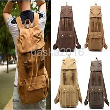 Retro Vintage Travel Rucksack Canvas Backpack Hiking Sport Satchel School Bag